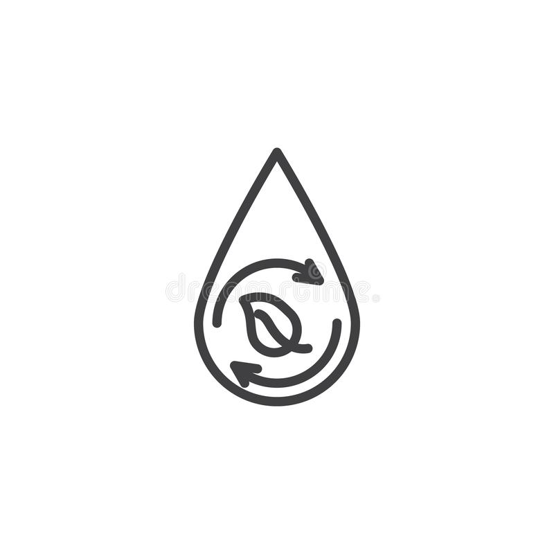 Eco, vernieuwbaar lijnpictogram vector illustratie