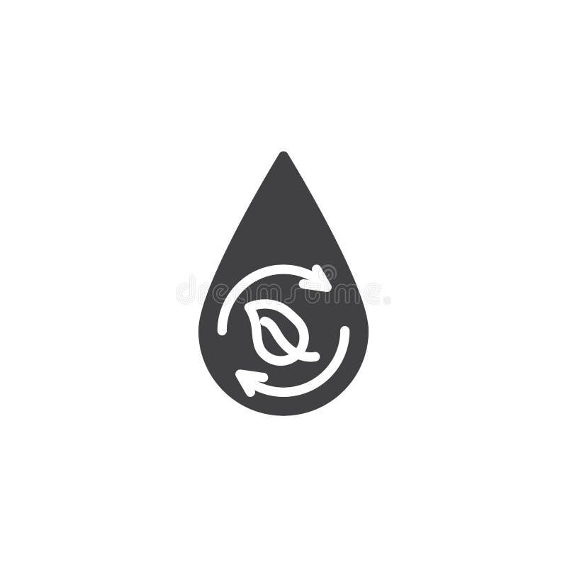 Eco, vernieuwbaar vectorpictogram royalty-vrije illustratie