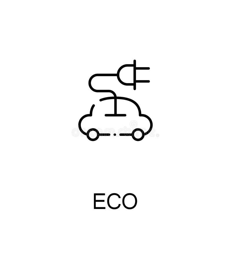 Eco Vlak Pictogram vector illustratie