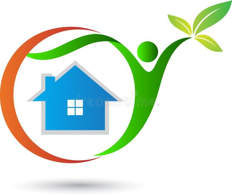 Eco vriendschappelijk huis vector illustratie