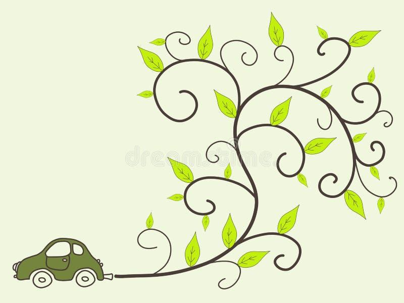Eco vriendschappelijke auto royalty-vrije illustratie