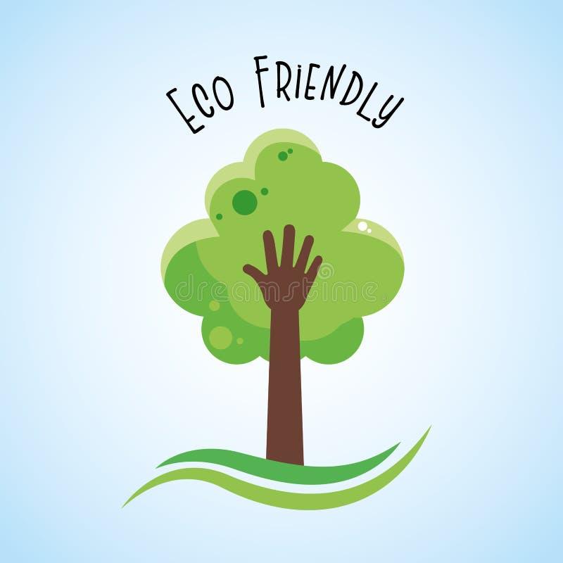 Eco vriendschappelijke beeldverhalen royalty-vrije illustratie