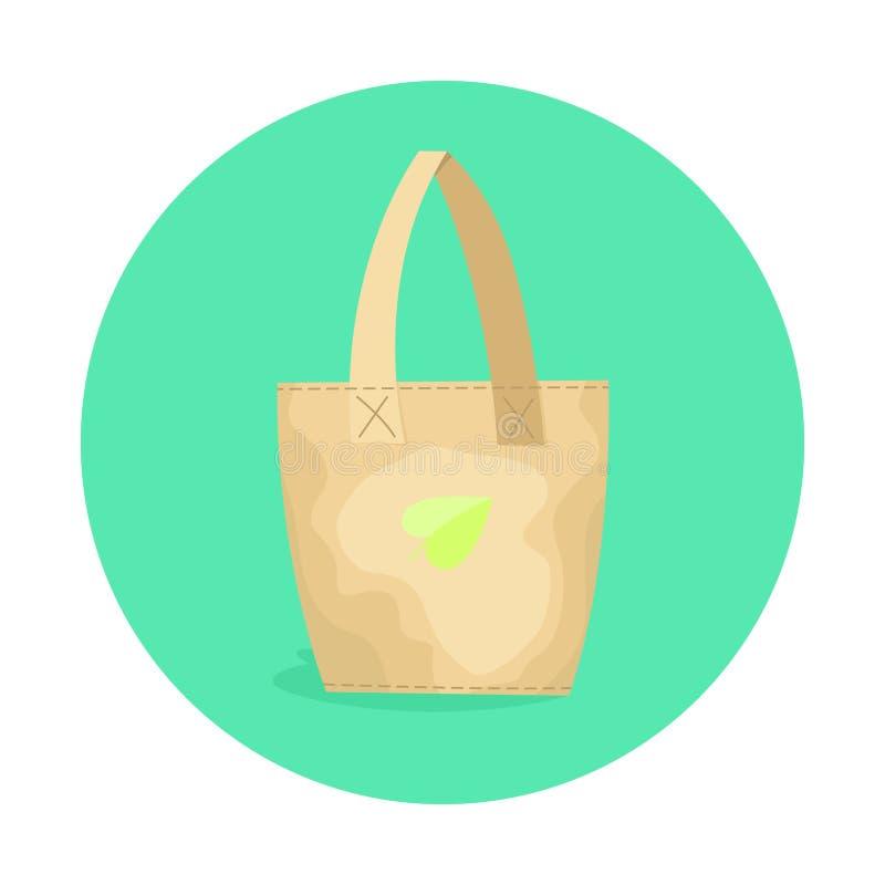 Eco vriendschappelijke document zak Ecologisch ontwerp van pakket vector illustratie