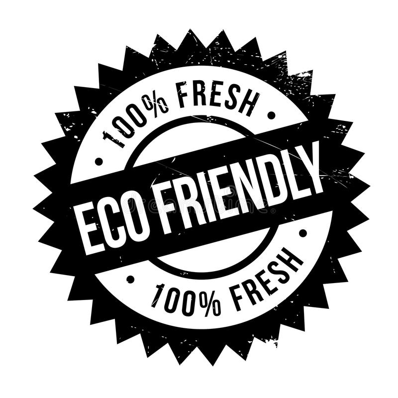 Eco vriendschappelijke zegel vector illustratie