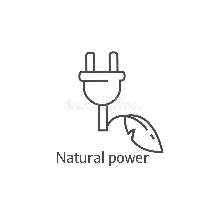 Eco władzy abstrakta ikona Oszczędzanie elektryczności pojęcie wtyczka elektryczna ilustracja wektor
