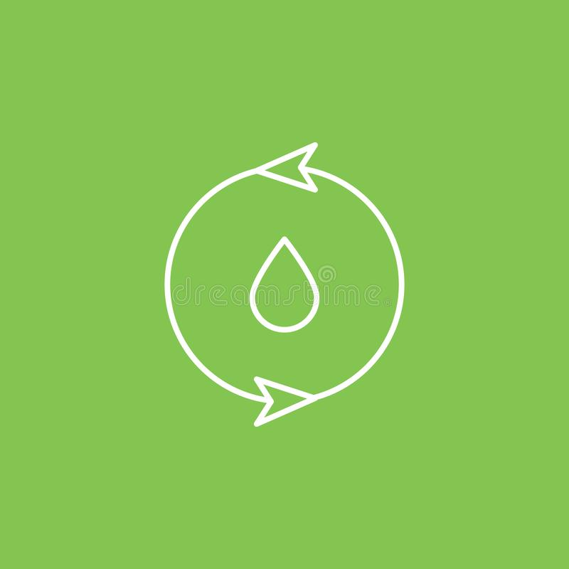 Eco, water icon - Vector. Simple element illustration from UI concept. Eco, water icon - Vector. Infographic concept vector. Illustration. on white background stock illustration