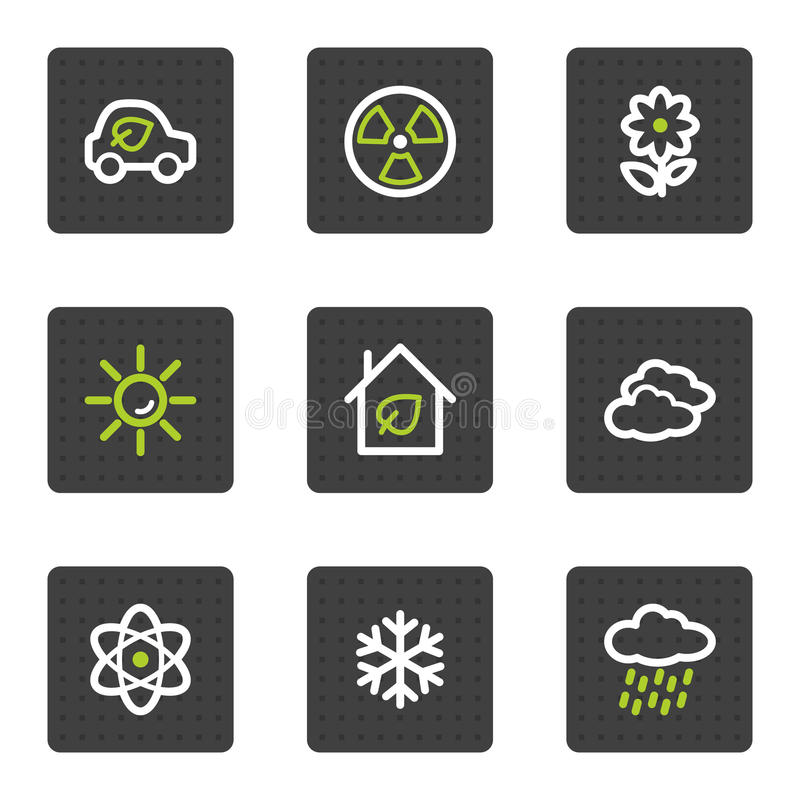 Download Eco Web Icons Set 2, Grey Square Buttons Series Royalty Free Stock Photo - Image: 13202065