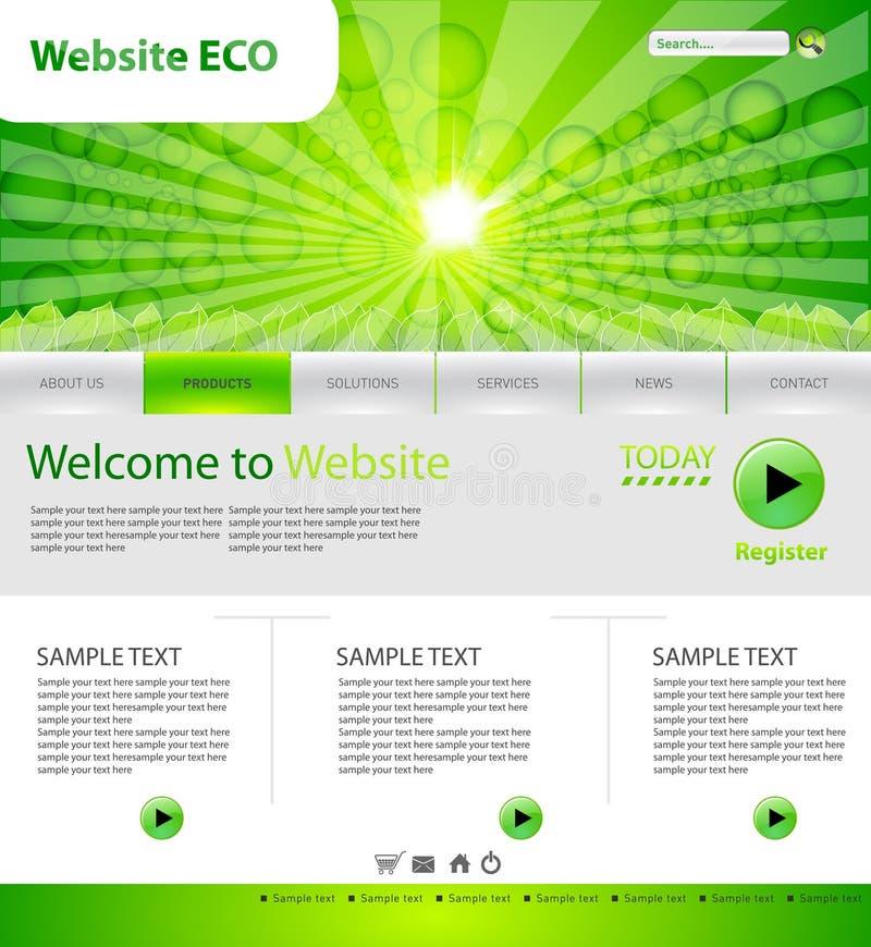Eco Web site vektor abbildung