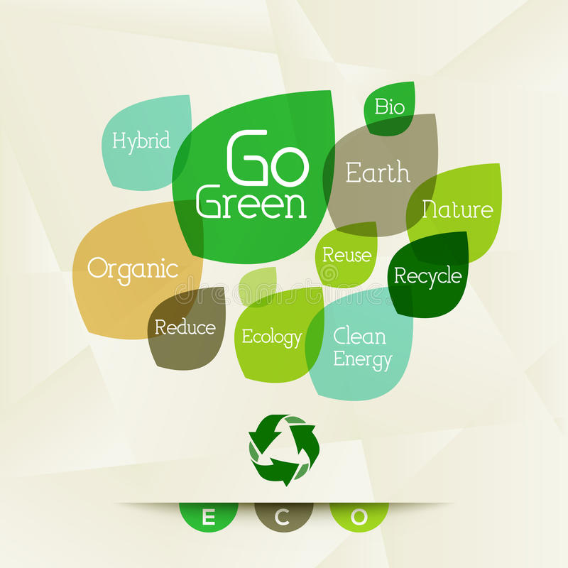 Eco - Word Wolk vector illustratie