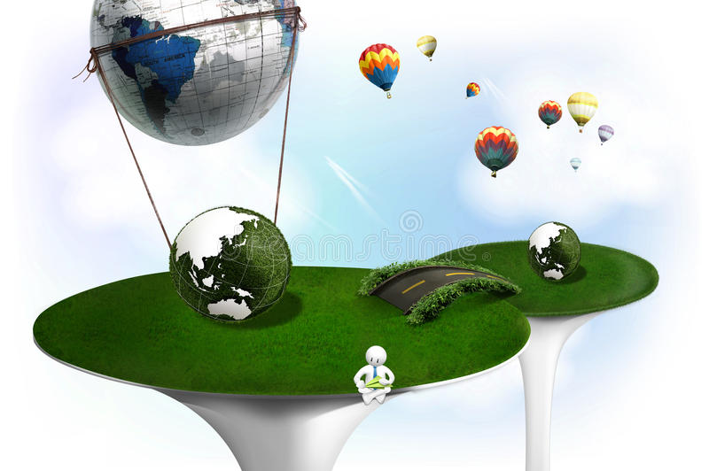 Eco world vector illustration