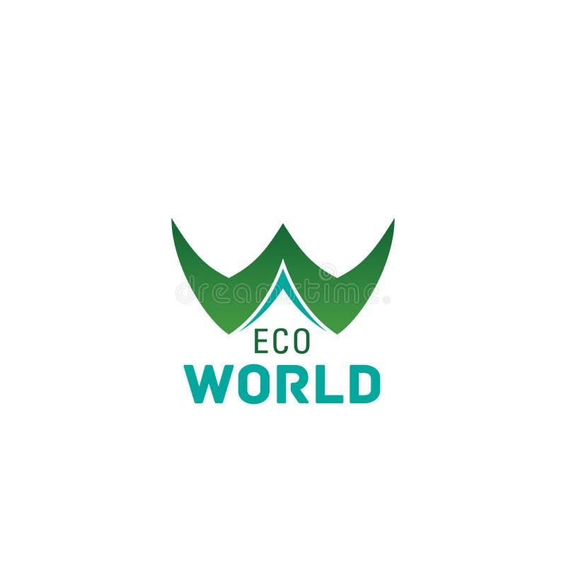 Eco world concept letter W vector icon vector illustration