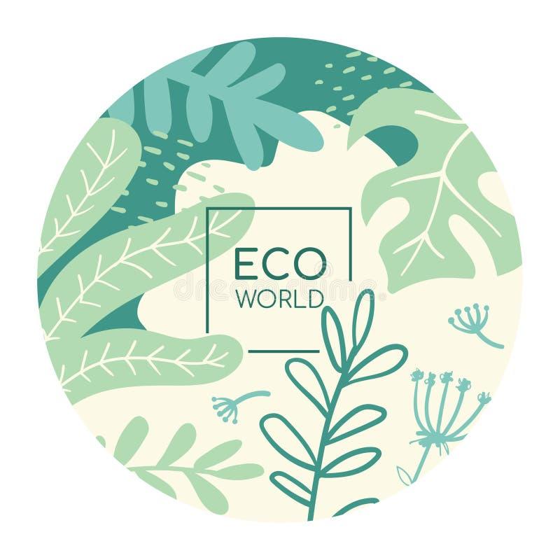 Eco world flat social media banner vector template stock illustration