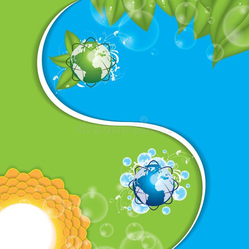 Eco yinyang. Vektorilustration royaltyfri illustrationer
