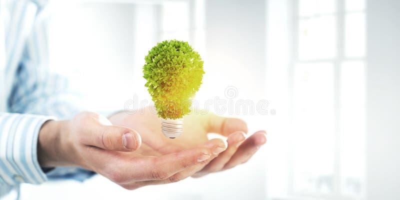 Eco zieleni energia Mieszani środki zdjęcia royalty free
