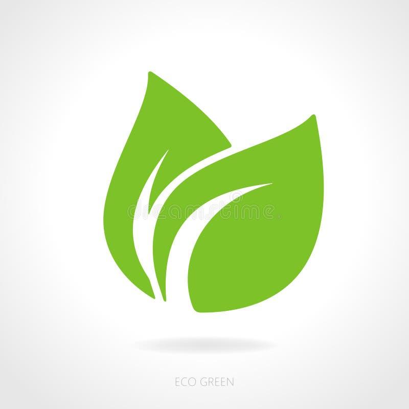 Eco zieleni liścia pojęcie royalty ilustracja