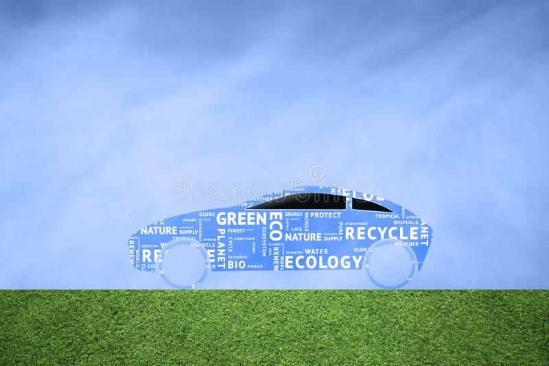 Eco zieleni słowa samochodowa chmura ilustracja wektor