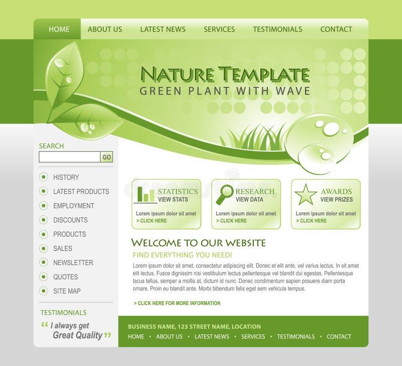 eco zielona natury szablonu sieć ilustracja wektor