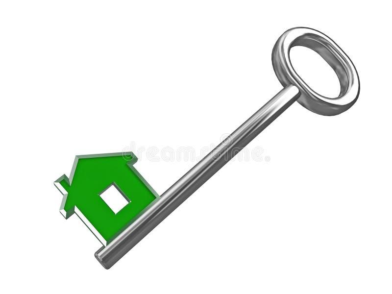 eco zielonego domu klucz royalty ilustracja