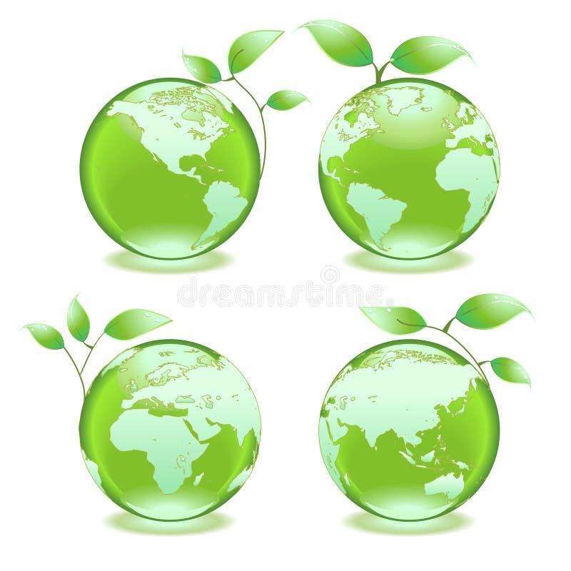 eco ziemska zieleń ilustracja wektor