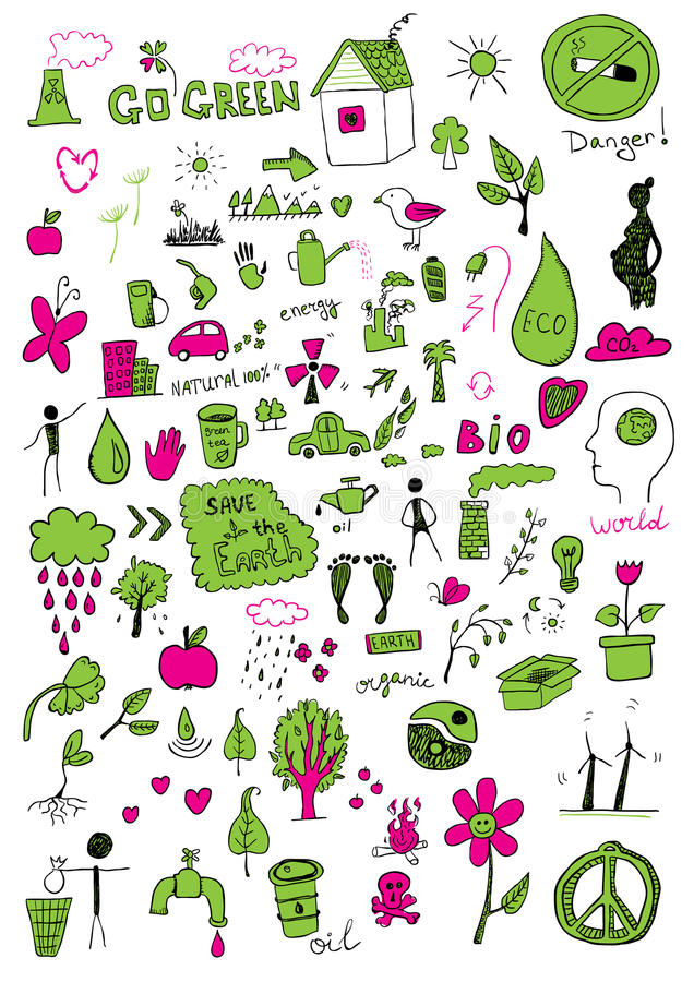 Eco znaki ilustracji