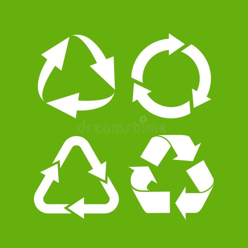 Eco-Zyklus-Pfeilikone stock abbildung