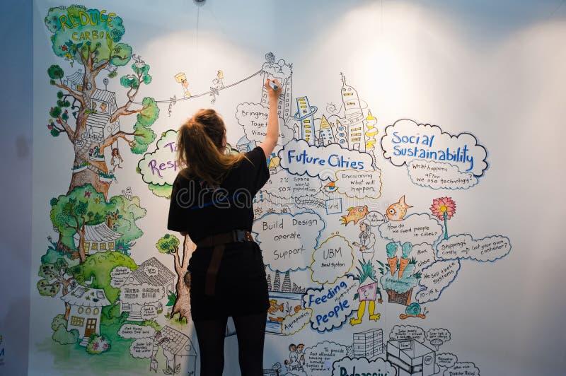Ecobuild 2013 στο Λονδίνο στοκ φωτογραφία με δικαίωμα ελεύθερης χρήσης