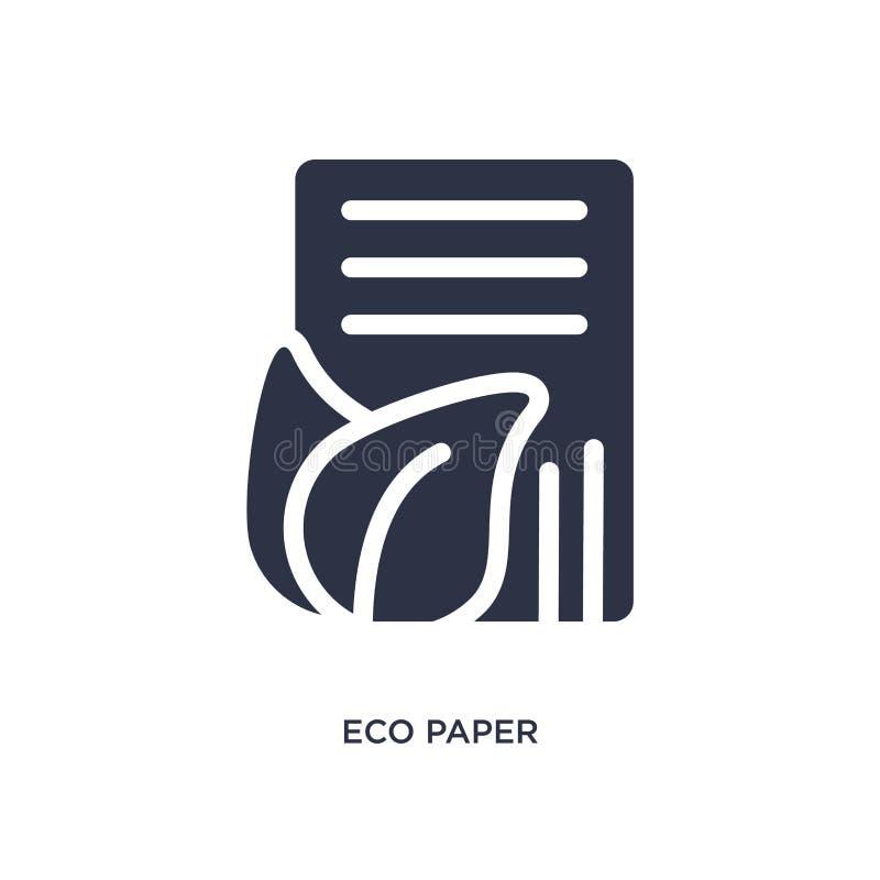 ecodocument pictogram op witte achtergrond Eenvoudige elementenillustratie van ecologieconcept royalty-vrije illustratie