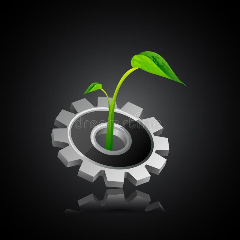 Ecofriendly индустрия бесплатная иллюстрация