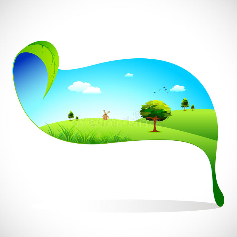 Ecofriendly Landscape stock illustration
