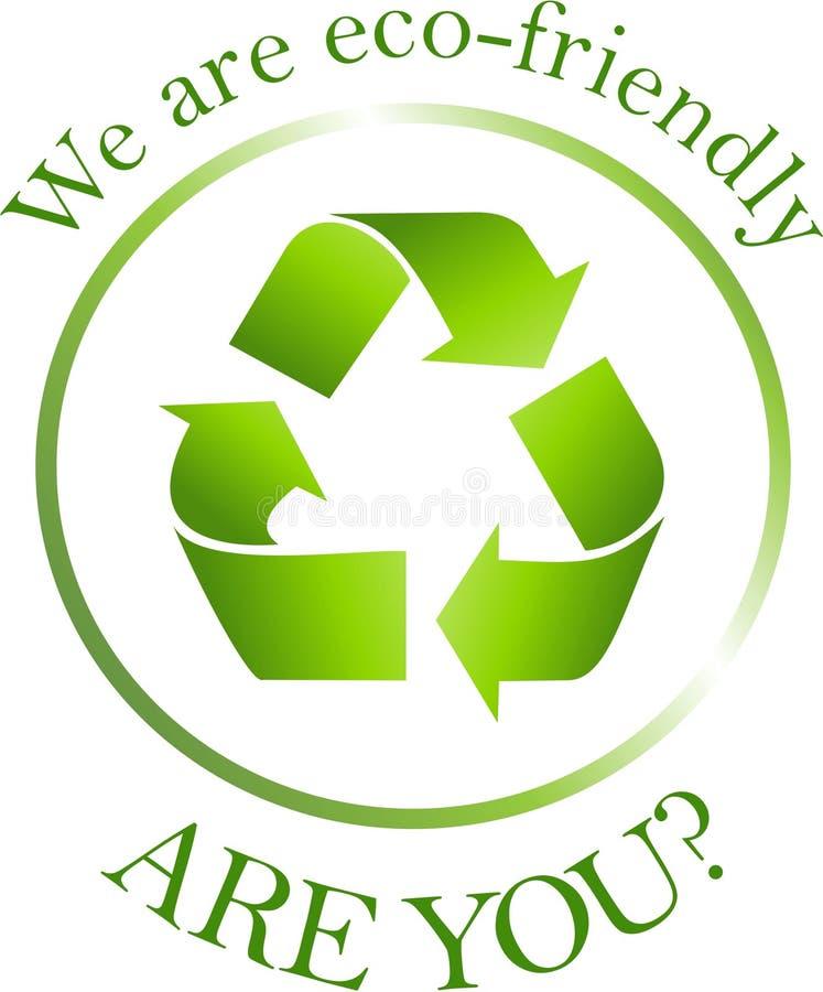 Ecofriendly tag vector illustration