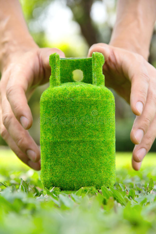 Ecogashouder van de handholding stock afbeeldingen