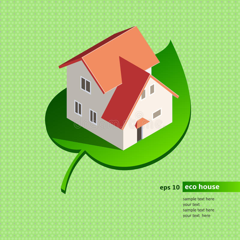 Ecohuis royalty-vrije illustratie