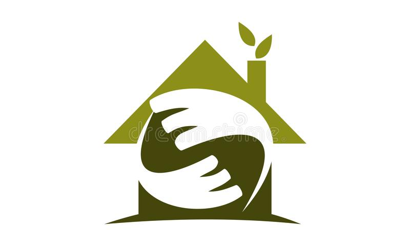Ecohuis Logo Design Template vector illustratie