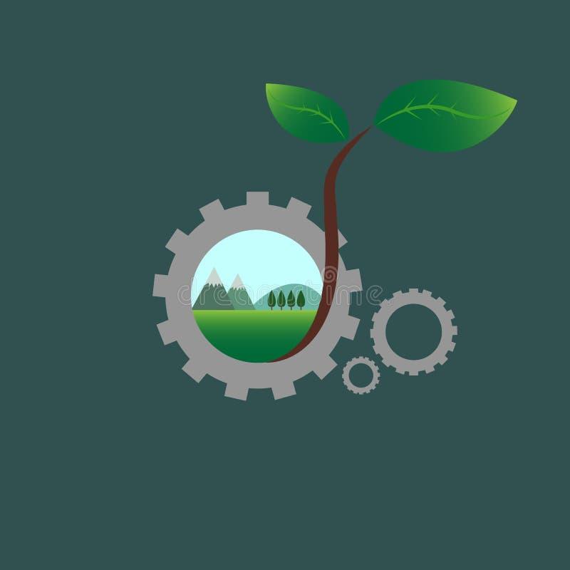 Ecoingenieur vector illustratie