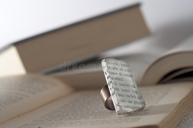 Download Ecojewelry Literary Ring From Glass Sea Stock Image - Image: 27409879
