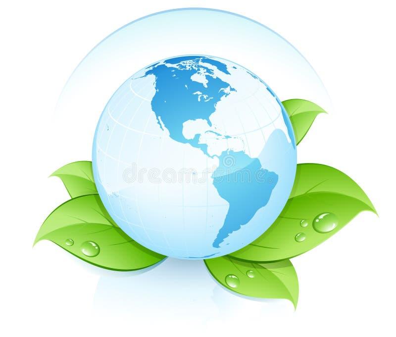 ecojordklotvärld royaltyfri illustrationer