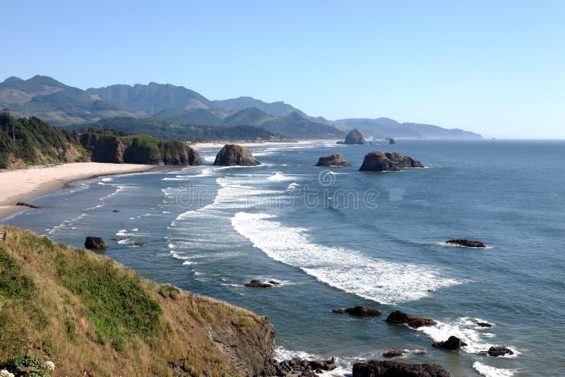 Ecola Nationalpark, Oregon-Küste u. der Pazifische Ozean. stockbild