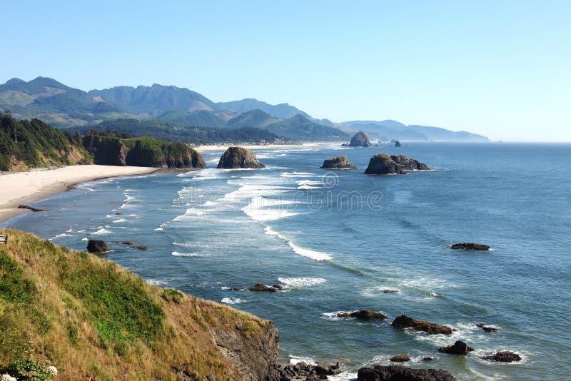 Ecola Nationalpark, Oregon-Küste u. der Pazifische Ozean. lizenzfreies stockfoto