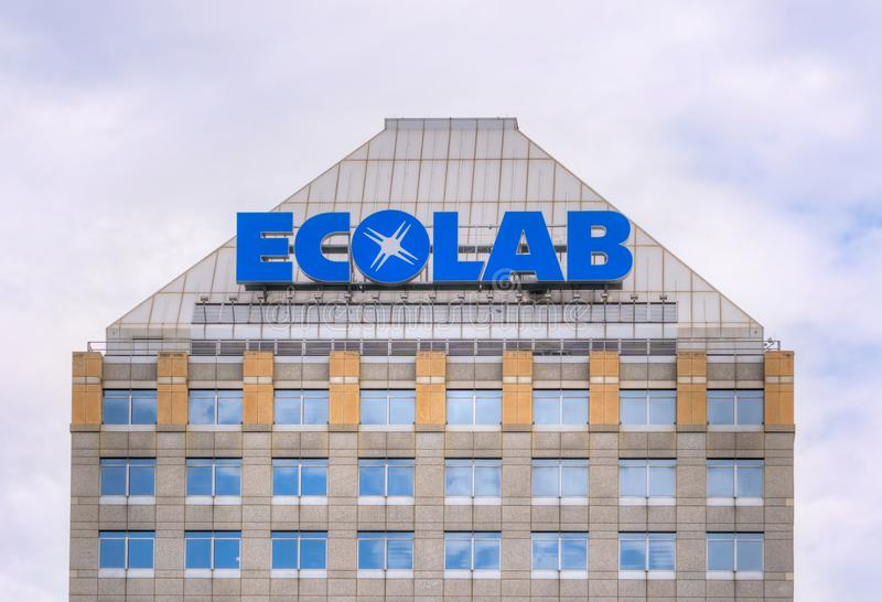 Ecolab Corporate Headquarters Building. ST PAUL, MN/USA - SEPTEMBER 10, 2017: Ecolab corporate headquarters building. Ecolab is an American global provider of royalty free stock photography