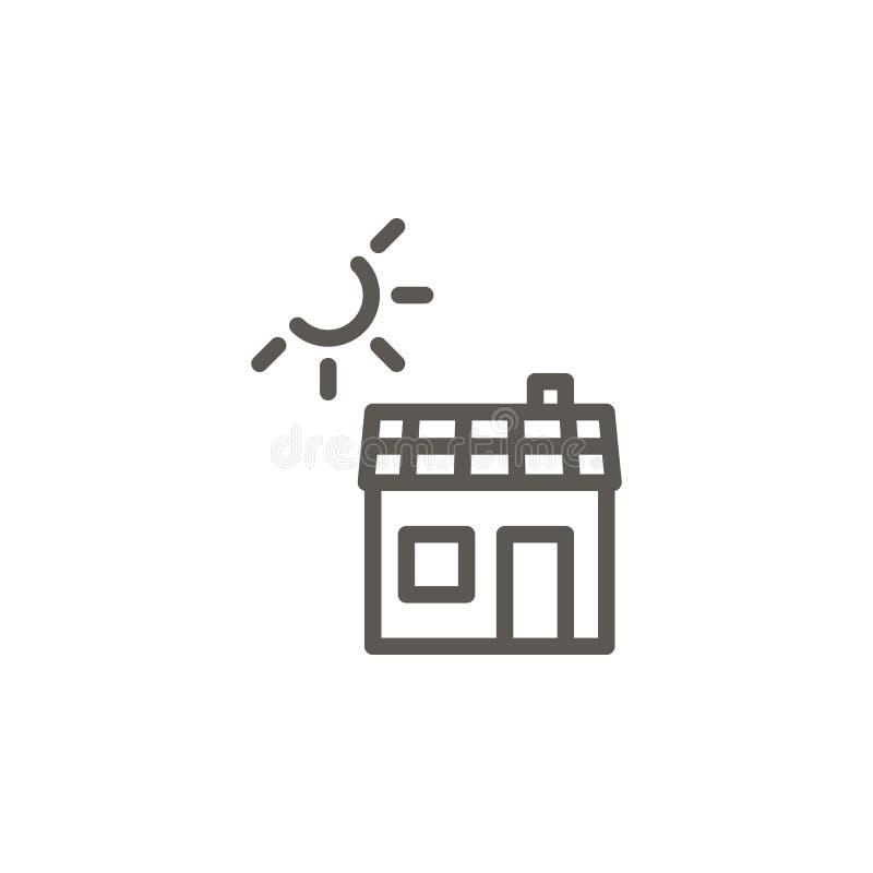 Ecología, casa, el panel, icono solar del vector Ejemplo simple del elemento del concepto de UI Ecología, casa, el panel, icono s libre illustration