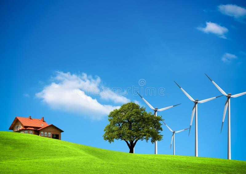 Ecología del viento imagen de archivo