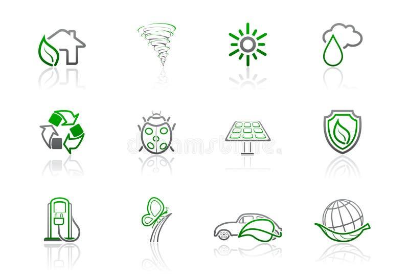 Ecología e iconos ambientales | Serie simple 2 libre illustration