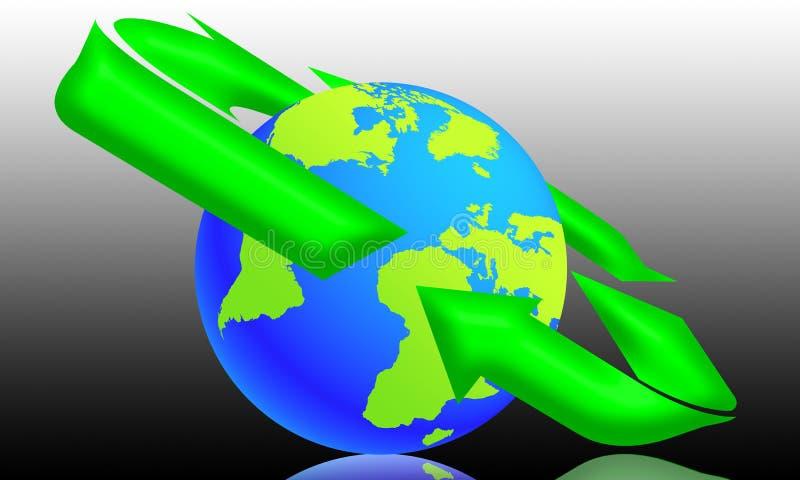 Download Ecología en el mundo (04) stock de ilustración. Ilustración de flecha - 7287785
