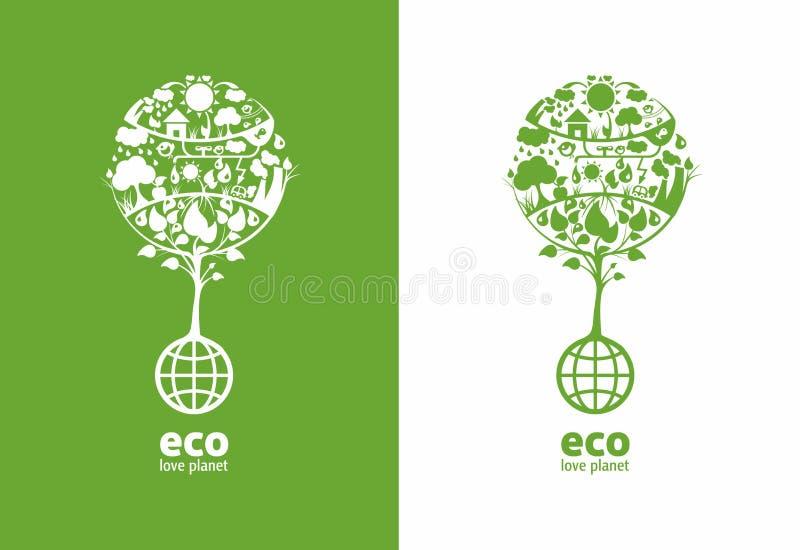 Ecología global libre illustration