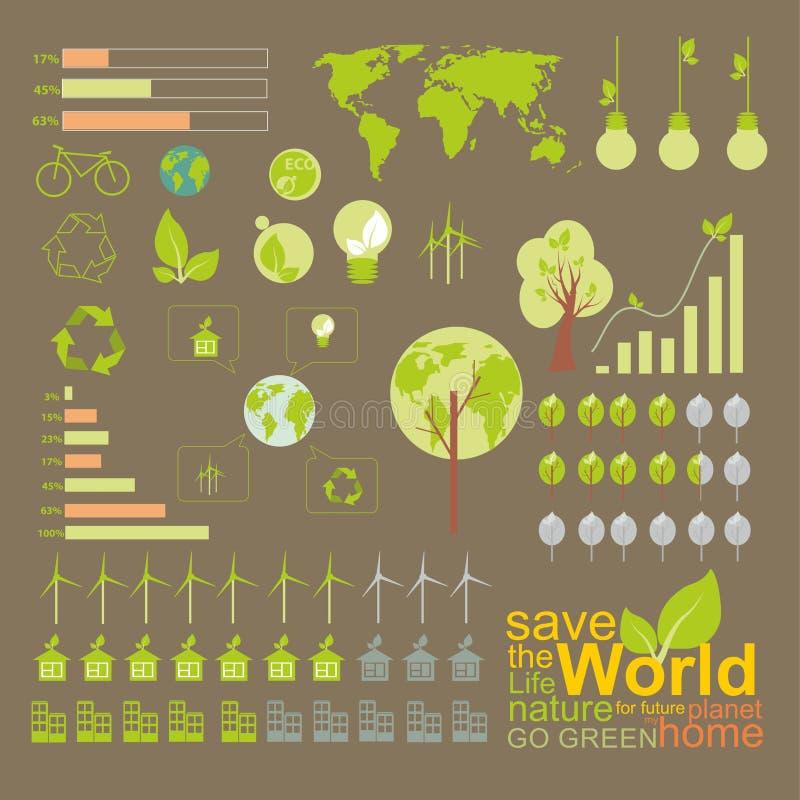 Ecología, infographics, elemento ambiental libre illustration