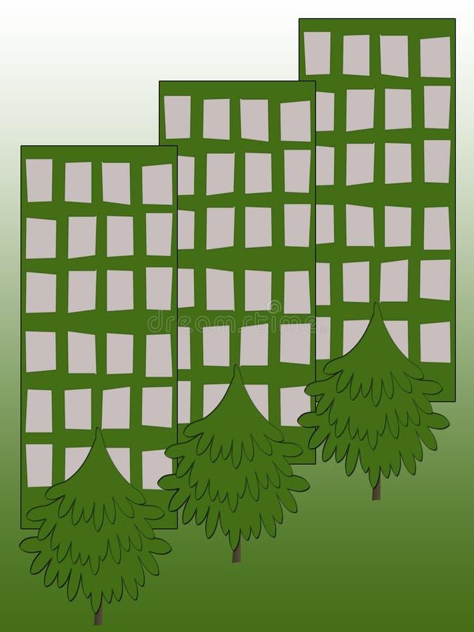 Ecologia da cidade ilustração do vetor
