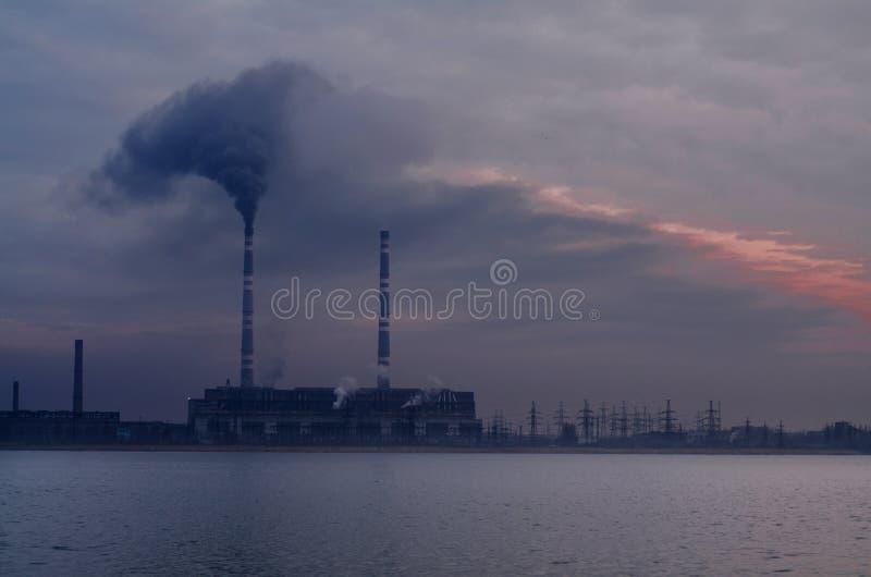 Ecologia da poluição fotografia de stock royalty free