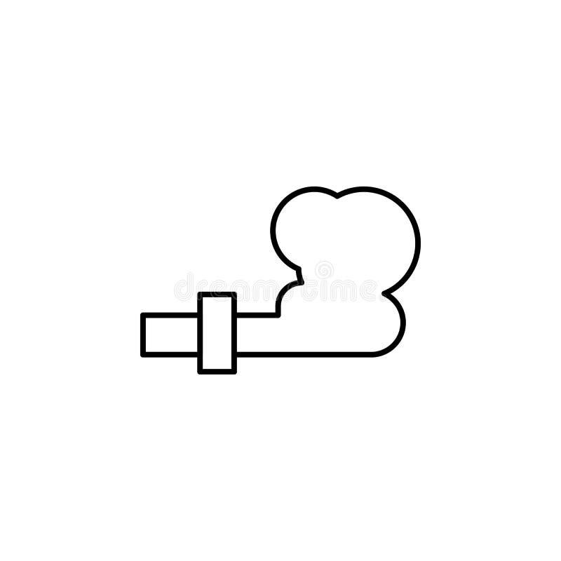 ecologia, dia da Terra, poluição, ícone atmosférico Elemento do ícone do dia da Terra da mãe Ícone de linha fina para design de s ilustração stock