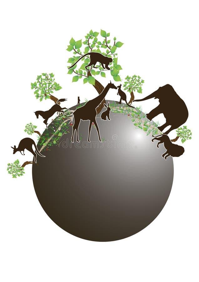 Download Ecologia do mundo ilustração do vetor. Ilustração de folha - 10058122