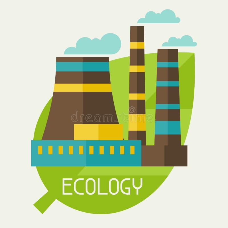 Ecologia ed illustrazione di concetto dell'ambiente illustrazione vettoriale